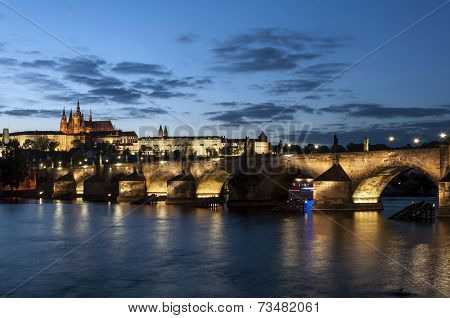 Prague At Night.