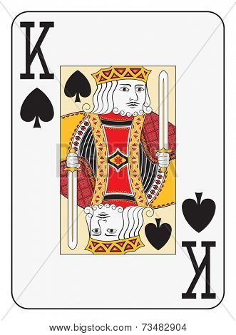 Jumbo index king of spades playing card