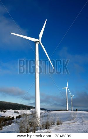 wind mill turbine in the mountains