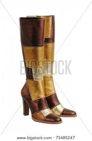 fashion boots isolated on white