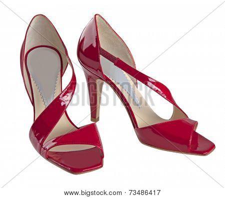 fashion shoes isolated on white