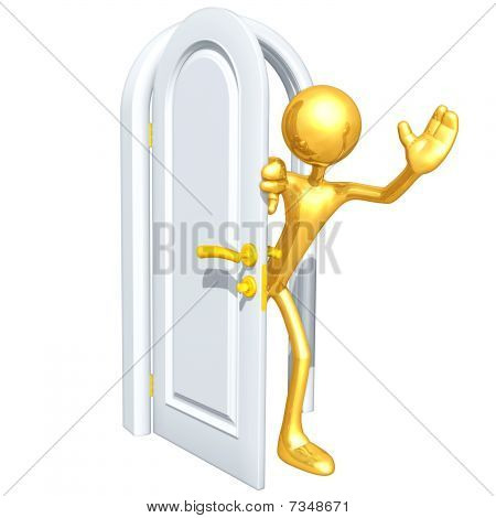Gold Guy With Door