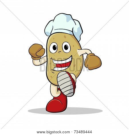 Potato Wearing Chef Hat