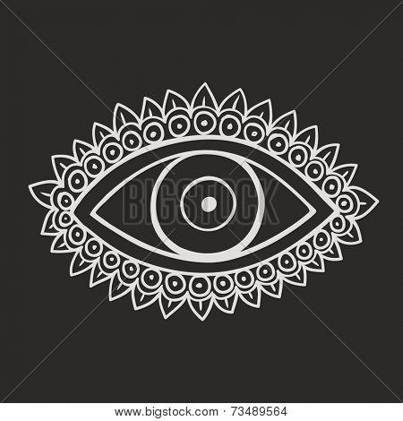 Doodle symbol evil eye