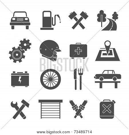 Auto Service Icons Set
