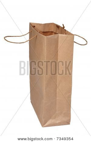 Paper Shopping Bag On White.
