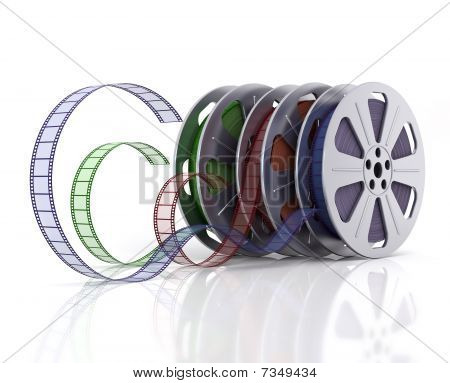Cinema film reels.