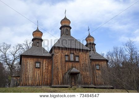 Old wooden Saint Michael's church