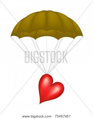 Heart and parachute