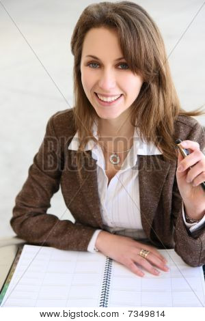 Pretty Russian Business Woman
