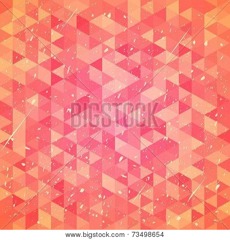 Threadbare background with triangles