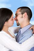 Couple In Love - Clipping Path poster