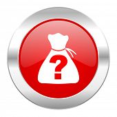 picture of riddles  - riddle red circle chrome web icon isolated  - JPG