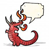 stock photo of fire-breathing  - fire breathing dragon cartoon - JPG