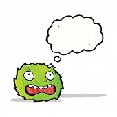 green furry monster cartoon poster