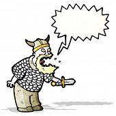 stock photo of berserk  - shouting viking cartoon - JPG