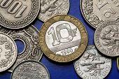 stock photo of liberte  - Coins of France - JPG