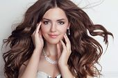 image of jewelry  - Long blowing hair - JPG