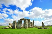 picture of stonehenge  - Stonehenge an ancient prehistoric stone monument near Salisbury Wiltshire UK - JPG