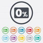 pic of zero  - Zero percent sign icon - JPG
