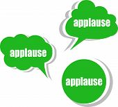 foto of applause  - applause word on modern banner design template - JPG