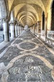 stock photo of arcade  - arcade in San Marco square in Venice - JPG