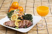 image of duck breast  - Roast Duck Breast with Orange sauce and Juice - JPG