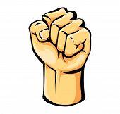 image of revolt  - Strong Hand Editable  - JPG