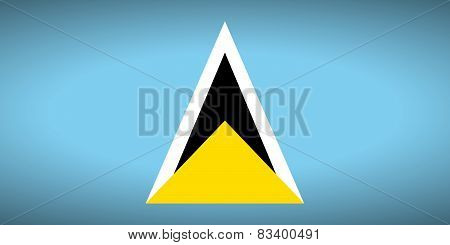 Flag Of Saint Lucia.