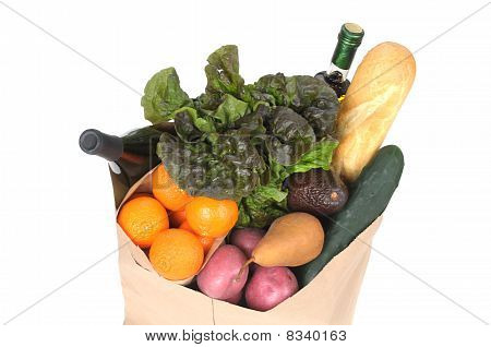 Grocery Bag With Fresh Vegetables