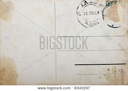 Old Postcard, Grunge Paper With Aging Marks