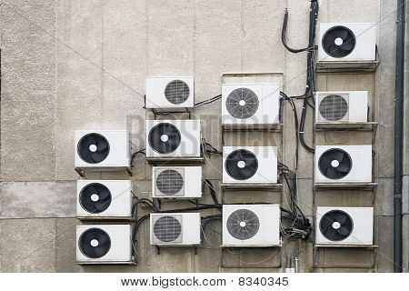 Air Conditioner Machines On Wall