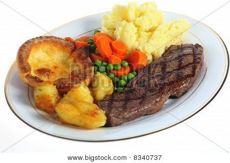 Steak Dinner Isolated