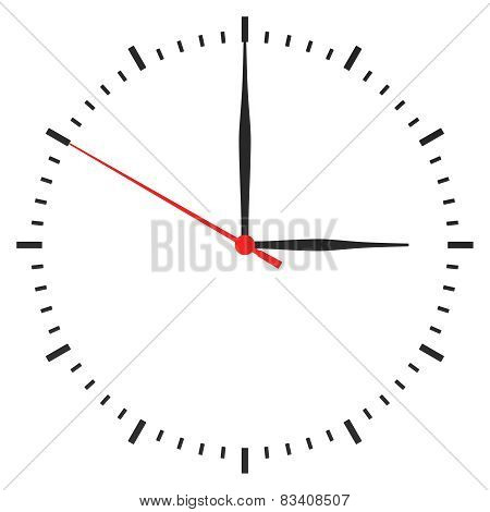 clock with arrows no numbers on a white background