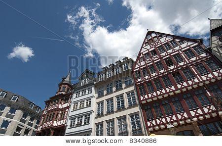 Traditionelle Häuser in die Roemer, Frankfurt Am Main, Deutschland