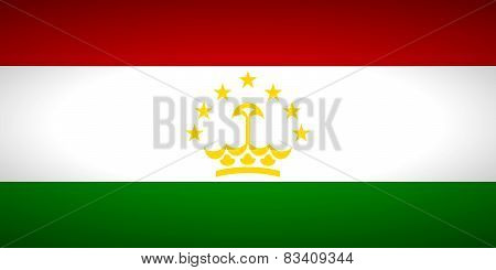 Flag Of Tajikistan.