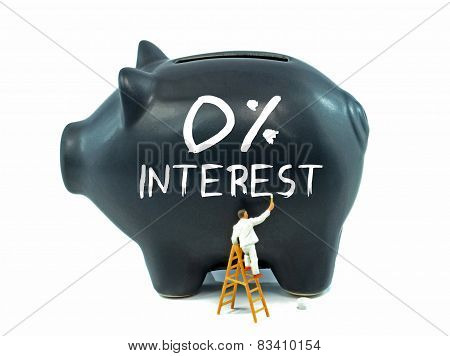 Zero Percent Interest on Piggy Bank