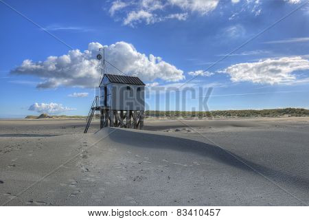 Beach hut on the island of Terschelling in the Netherlands