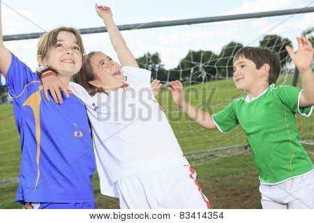 S Child play soccer on summer season