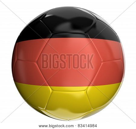 Soccer ball with German flag