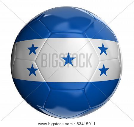 Soccer ball with Honduras flag