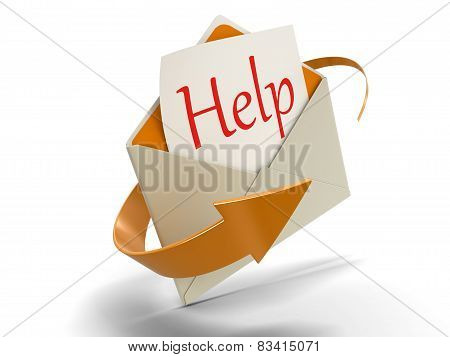 Letter Help (clipping path included)