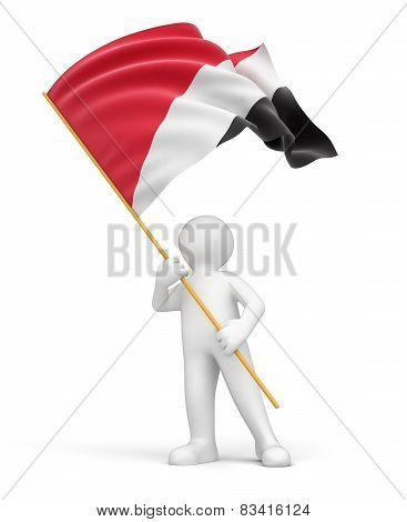 Man and Sealand flag (clipping path included)