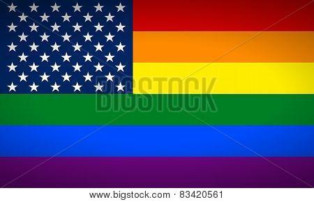 United States Gay Flag.