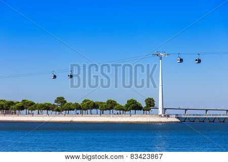 Cableway In Lisbon