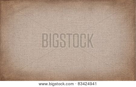 horizontal brown canvas to use as grunge background or texture