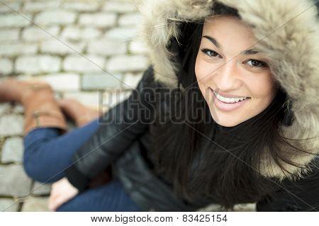 winter outside woman