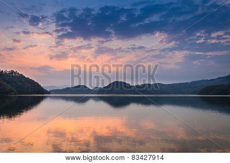 Sunset At Begnas Lake