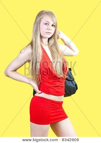 Sexy Woman With Purse
