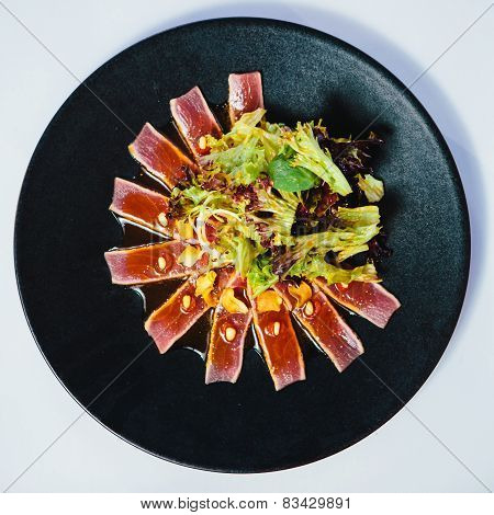 Seared tuna steak